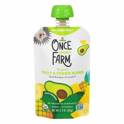 Once Upon a Farm Fruit & Veggie Blend, Organic, Wild Rumpus Avocado, Cold-Pressed