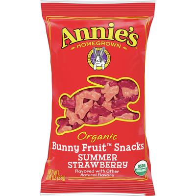 Annie's Bunny Fruit Snacks, Organic, Summer Strawberry