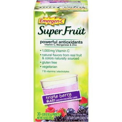 Emergen-C Super Fruit Triple Berry Blast Drink Mix Dietary Supplement