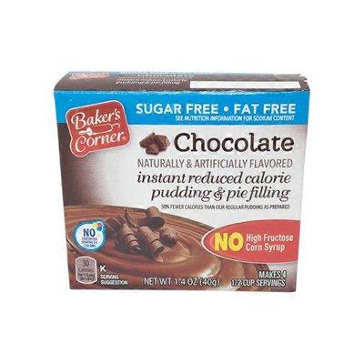 Baker's Corner Instant Sugar Free Chocolate Pudding Mix