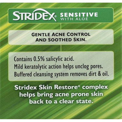 Stridex Acne Medication, Sensitive, with Aloe, Soft Touch Pads