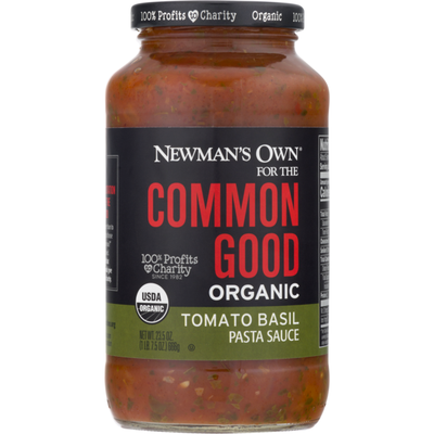 Newman's Own For The Common Good Organic Pasta Sauce Tomato Basil