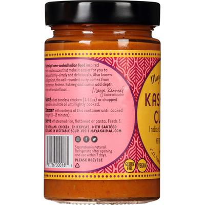 Maya Kaimal Indian Simmer Sauce, Kashmiri Curry, Mild