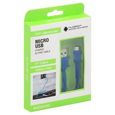 Itek Micro USB, Charge & Sync Cable, Android