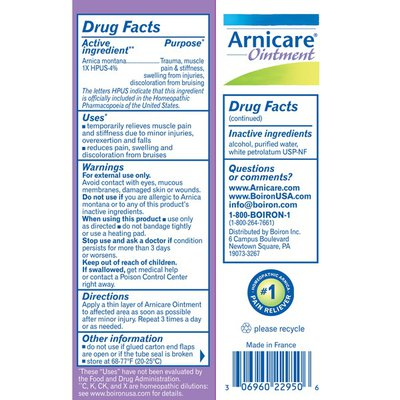 Boiron Arnicare Ointment Topical Pain Relief