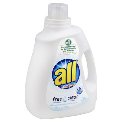 All 2X Ultra Free & Clear with Stainlifters Liquid Laundry Detergent