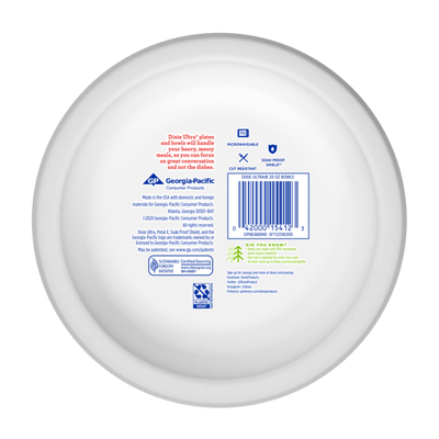 Dixie Ultra Paper Bowls, 20oz Disposable Bowl (Designs May Vary)