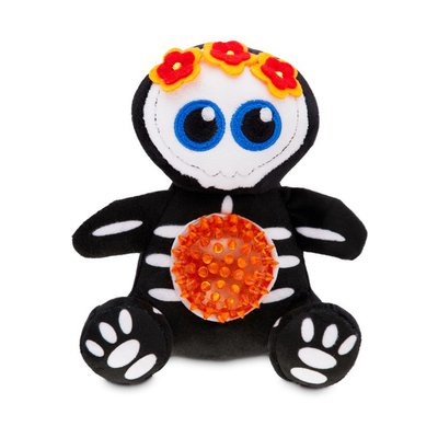 "6"" Halloween Skeleton Belly Tpr Cat Toy"