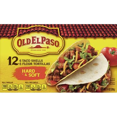 Old El Paso Dinner Kit, Taco Shells, Flour Tortillas, Hard & Soft
