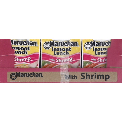 Maruchan Instant Lunch with Shrimp Ramen Noodles and Vegetables
