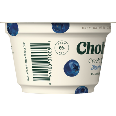 Chobani Yogurt, Greek, Non-Fat, Blueberry on the Bottom