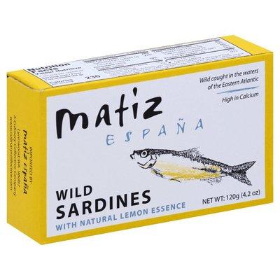 Matiz Wild Sardines, Natural Lemon Essence