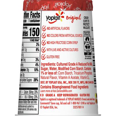 Yoplait Original Yogurt, French Vanilla, Low Fat Yogurt