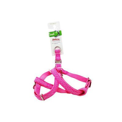 Petco Easy Step-In Pink & White Dotted Dog Harness