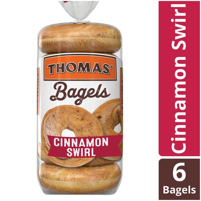 Thomas' Cinnamon Swirl Soft & Chewy Pre-Sliced Bagels