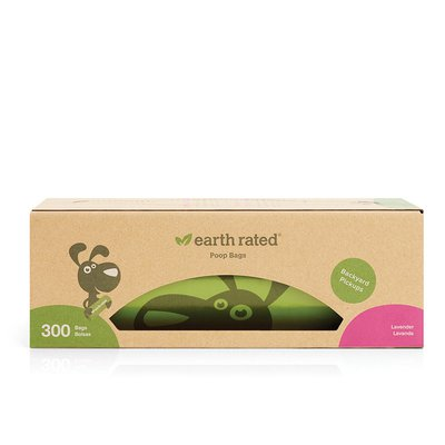 Earth Rated Lavender Dog Waste Bags, Large Single Roll