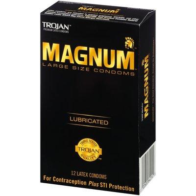 Trojan Magnum Large Size Lubricated Latex Condoms