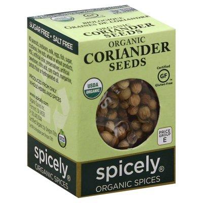 Spicely Organics Coriander, Seeds, Organic