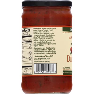 DelGrosso Pasta Sauce, Organic, Tomato Basil