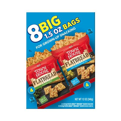 Keebler Town House Flatbread Crisps Crackers Variety Pack