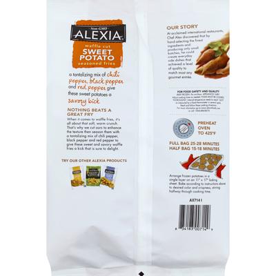 Alexia Fries, Seasoned, Sweet Potato, Waffle Cut