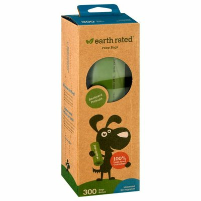 Earth Rated Unscented Dog Waste Bags, Single Roll