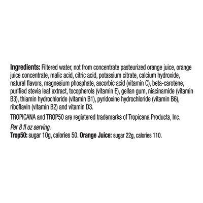 Tropicana Orange No Pulp with Calcium and Vitamin D Juice Beverage