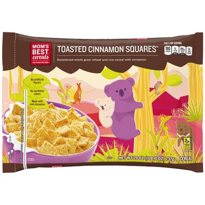MOM's Best Cereals Toasted Cinnamon Squares