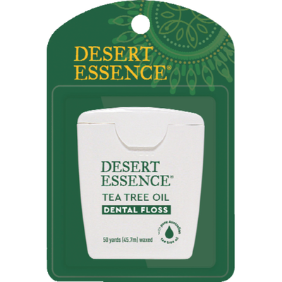 Desert Essence Dental Floss, Waxed, Tea Tree Oil