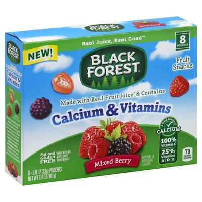 Black Forest Fruit Snacks, Calcium & Vitamins, Mixed Berry