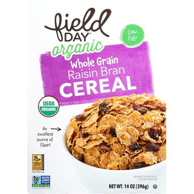Field Day Cereal, Organic, Whole Grain, Raisin Bran