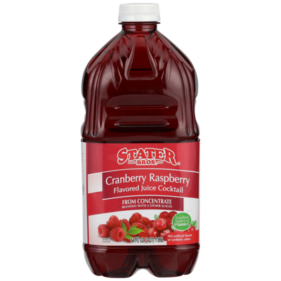 Stater Bros. Markets Cranberry Raspberry Flavored Juice Cocktail From Concentrate Blended With 2 Other Juices