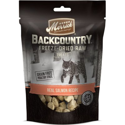Merrick Backcountry Freeze-Dried Raw Real Pacific Salmon Recipe Treats for Cats