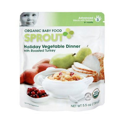 Sprout Advanced Holiday Vegetable Dinner with Roasted Turkey Organic Baby Food