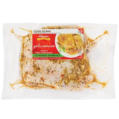 Wegmans Garlic Parmesan Seasoned Whole Chicken