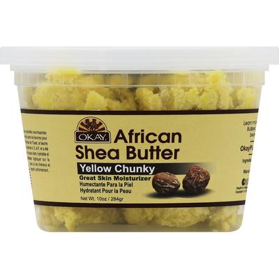 OKAY Shea Butter, African, Yellow Chunky