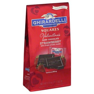 Ghirardelli Dark Chocolate, Valentine's, Strawberry, Squares