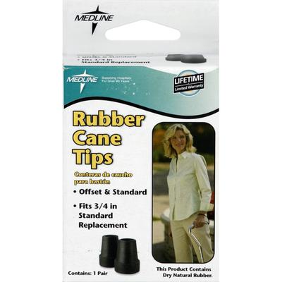 Medline Rubber Cane Tips