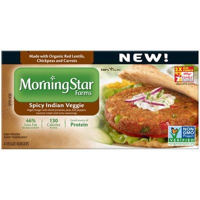 Morning Star Farms Spicy Indian Veggie Veggie Burgers