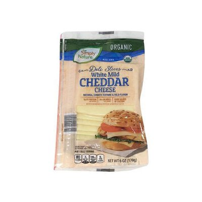 Simply Nature Deli Sliced Organic White Cheddar Cheese