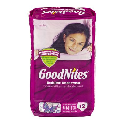 GoodNites Bedtime Underwear 8-14/L-XL Fashion Designs - 12 CT