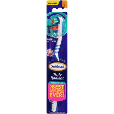 Arm & Hammer Spinbrush Truly Radiant Deep Clean Soft Arm & Hammer Spinbrush Truly Radiant Deep Clean Soft Manual Toothbrush