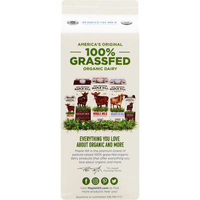 Maple Hill Organic Milk, Reduced Fat, Organic