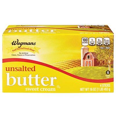 Wegmans Butter, Unsalted, Sweet Cream