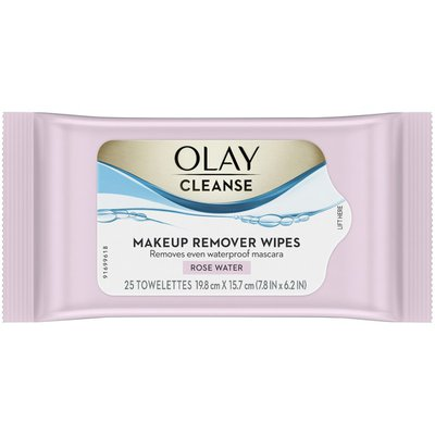 OLAY Makeup Remover Wipes, Rose Water