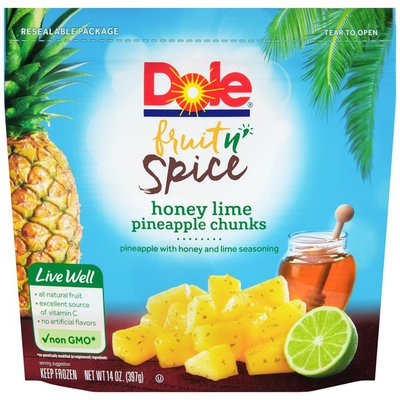 Dole Honey Lime Pineapple Chunks Fruit n' Spice