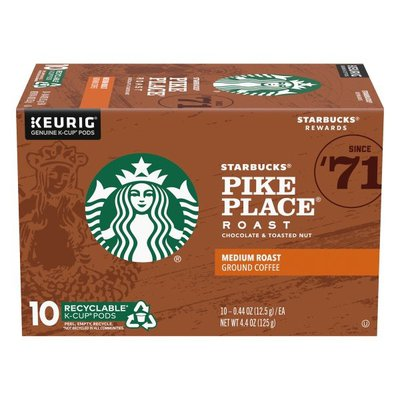 Starbucks Medium Roast K-Cup Coffee Pods — Pike Place Roast for Keurig Brewers