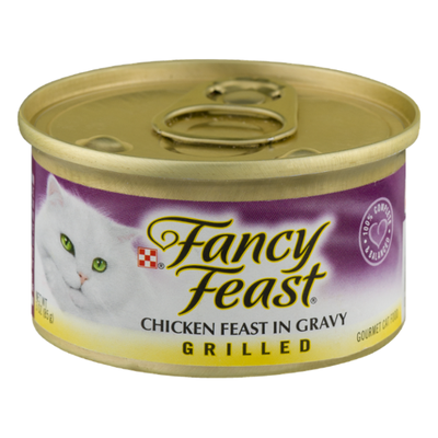 Purely Fancy Feast Gravy Wet Cat Food, Grilled Chicken Feast