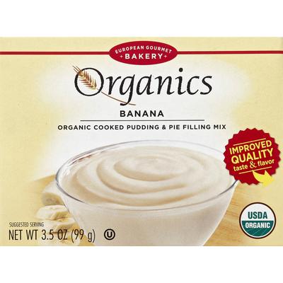 European Gourmet Bakery Pudding & Pie Filling Mix, Organic Cooked, Banana