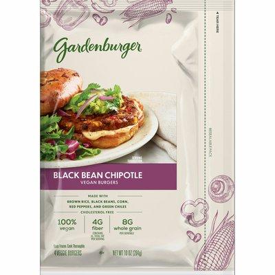 Gardenburger Veggie Burgers, 8 Grams of Whole Grain, Black Bean Chipotle